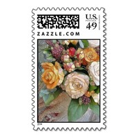Floral Mosaic Postage Stamps