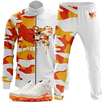 Orange White KBear Camo Tracksuit
