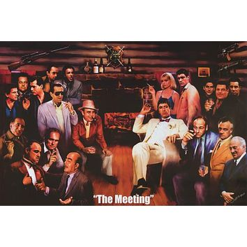 The Meeting Mafia Movie Icons Poster 24x36