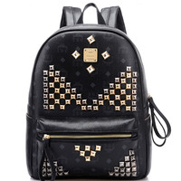 Black Stud Detail Backpack