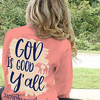 Simply Southern God Is Good Tee - Pink