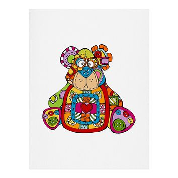 Angry Squirrel Studio BEAR Button Nose Buddies Art Print