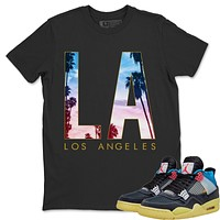 Los Angeles T-Shirt - Air Jordan 4 Union Off Noir