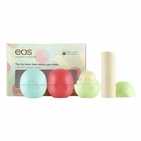 eos Smooth Lip Balm Sphere 4 Flavor Multi-Pack, Assorted