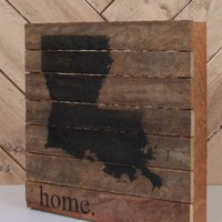 Louisiana Wooden Sign - Game Day / State Pride