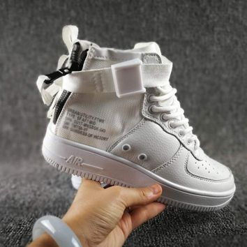 Originals Nike Special Field SF AF1 Mid Running Sport Casual Shoes 917753 White Sneakers