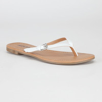 Soda Squash Girls Sandals White  In Sizes