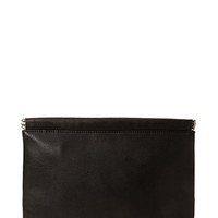 FOREVER 21 Pebbled Faux Leather Clutch