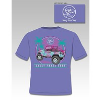 Sale Sassy Frass Collection Jeepin Palm Tree Jeep Vacation Comfort Colors Bright T Shirt