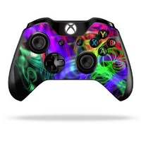 Protective Vinyl Skin Decal Cover for Microsoft Xbox One Controller wrap sticker skins Neon Splatter
