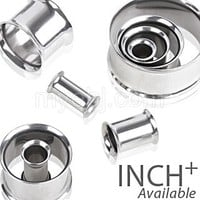 316L Surgical Steel Double Flared Tunnel Plug Up to 2""