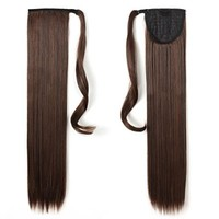 "OneDor 24"" Straight Wrap Around Ponytail Extension for Woman Synthetic Hair 120g-130g (2/30)"
