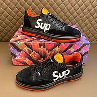 LOUlS  VUlTTON  Men Fashion Boots fashionable Casual leather Breathable Sneakers Running Shoes
