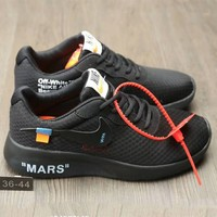 NIKE TANJUN x OFF WHITE Casual Casual Running Shoes F-AHXF full black