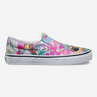 Vans Disney Alice Classic Womens Slip-On Shoes Pink  In Sizes