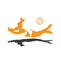 Volleyball Dig Silhouette wall decal