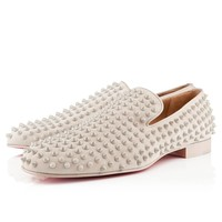 rollerboy spikes mens flat stone suede