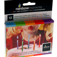 Color Flame Party Candles (12-pack)