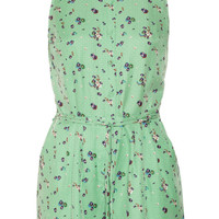Girl. by Band of Outsiders|Elise floral-print silk and cotton-blend jacquard playsuit|NET-A-PORTER.COM