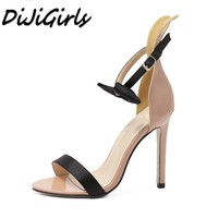 DiJiGirls Women Classics Fashion Mixed Colors sandals high heels shoes woman Butterfly-knot shoes sexy ladies Stiletto heels