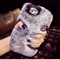 Rabbit Fur Phone Case For Iphone 7 6 6S Plus 5 5S 5C Samsung Galaxy Note 7