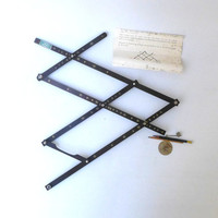 Mid century vintage Kent pantograph drawing tool to trace or enlarge pictures