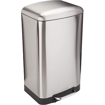 Stainless Steel Rectangular Trash Can