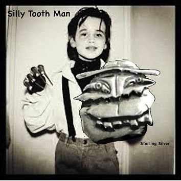 """Silly Tooth Man"" Pendant or Pin"