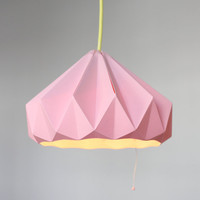 Chestnut paper origami lampshade pink