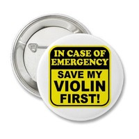 Save My Violin Buttons from Zazzle.com