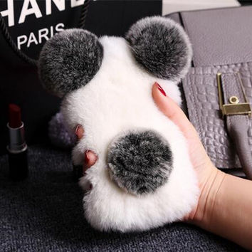 Lovely plush toys mobile phone case for iphone X 8 8plus  7 7 Plus 6 6s 6 plus 6s plus + Nice gift box 71501