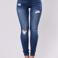 Stunt So Hard Jeans - Medium Blue
