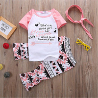baby girls fall clothing girls floral party outfits baby girls boutique clothes Short sleeve with ruffle pant with accessories
