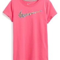 Girl's Nike 'Swoosh' Graphic Tee,