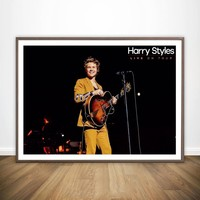 New Harry Styles Custom Music Star Album Art Poster Silk Light Canvas Painting Print For Home Decor Wall Picture