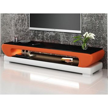 Rich Look Modern Media Center With Glass Top