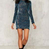 Motel Drop It Velvet Dress