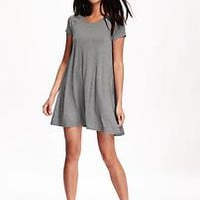 Short Sleeve Knit Swing Dress for Women | Old Navy