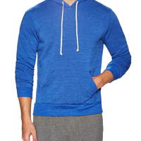 Alternative Apparel Men's Hoodlum Eco-Fleece Pullover Hoodie - Blue