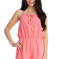 Coral Bliss Romper