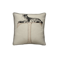 Linen with Letter T Print Cushion | Andrew Martin Animal Alphabet T