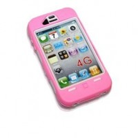 Generic LE iPhone 4 Case - Non-Retail Packaging - Pink/White