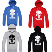 HOT Punisher Cap Pullover Party Dress Hoodie Superhero Casual Cosplay Costume