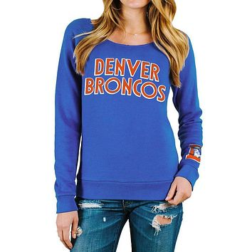 Denver Broncos - Block Logo Champion Juniors Scoop Neck Sweatshirt