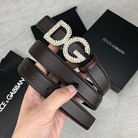 D&G Hot Sale Diamond Buckle Dg Ladies Simple And Versatile Fashion Belt