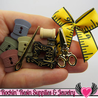 Jesse James Buttons 9 pc a Stitch In Time OR Turn them Into Flatback Cabochons