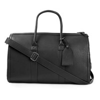 Black Faux Leather Holdall Bag