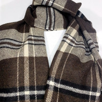 Brown Scarf, Brown Wool Men's Scarf, Chashmere Men's Scarf - EDK145166