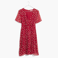 Wrap-Front Mini Dress in Seattle Floral : | Madewell