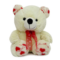 Cream Teddy Soft Toy- The super cute soft toy is a cute and cuddly toy for kids of